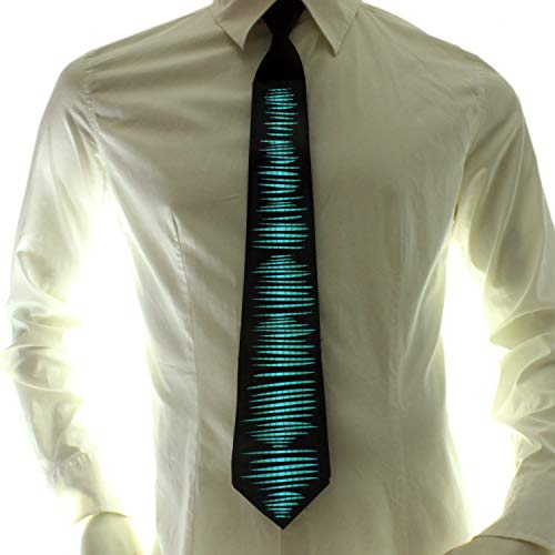 Ucult Soundaktivierte LED-Krawatte Jungle EL-Schlips Leuchtkrawatte