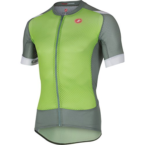 CASTELLI CLIMBERS 2 0 FULL ZIP JERSEY   MENS SPRINT GREEN/AGAVE  L