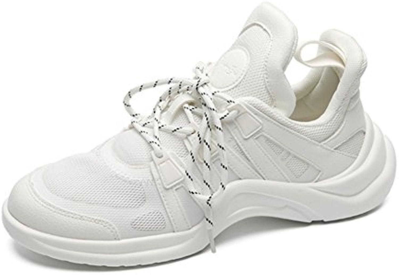 XIE Männer Schuhe Sommer Hit Farbe Nähte Sport Laufschuhe Mesh Atmungsaktive Leichte Stoßdämpfende Freizeitschuhe