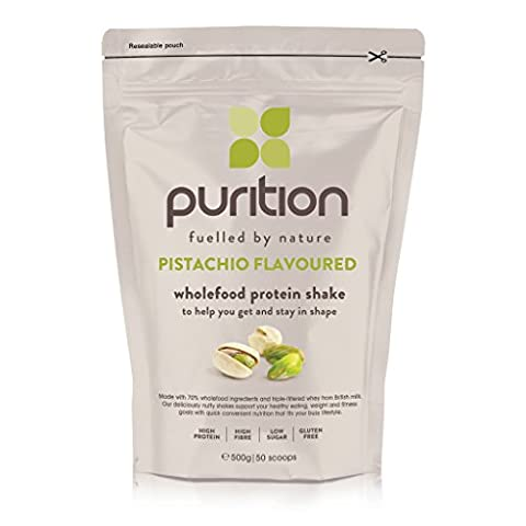 Wholefood Pistachio Protein Shake (500g) Ideal for weight loss & post exercise recovery - 100% natural meal replacement - Breakfast smoothie for men & women - Drink or mix into porridge or yogurt