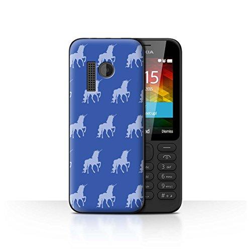 Stuff4® Hülle/Case für Nokia 215 / Magisches Einhorn Muster/Blau Mode Kollektion
