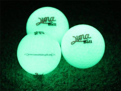 暗闇で光る!ゴルフボール Luna Ball(ルナボール)12個セット