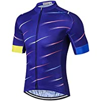 Mountain Bike Jersey Men's Cycling Jersey For Men Biking Jersey 2017 Shirt Jacket Weimostar, Short Sleeve Lycra Cuff, Breathable, Elasticity Comfortable, Quick Dry, MTB Road Cycle Bicycle Skull Flower