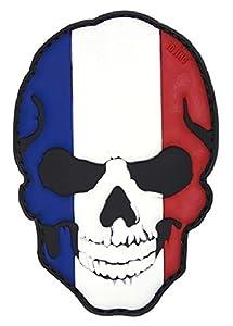 Patch Ecusson 3d Pvc Velcro Skull Tete De Mort Crane Drapeau France Francais Kza-e-s-836 / 444130-5014 Airsoft