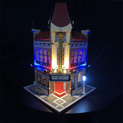 Poxl Licht Set Für Palace Cinema Modell - LED Beleuchtung Licht Kit Kompatibel Mit Lego 10232 (Modell Nicht Enthalten) Modell Cinema