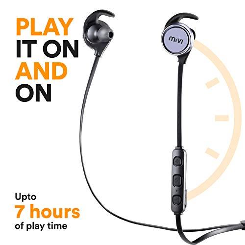 Mivi ThunderBeats Wireless Bluetooth Earphones with Mic - Gun Metal Image 5