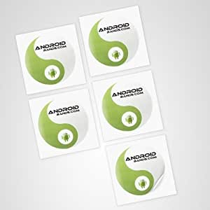 NFC Tags 5 Stickers | NFC label Tag | LARGE CAPACITY | Topaz 512 NFC Chip | For NFC smartphones