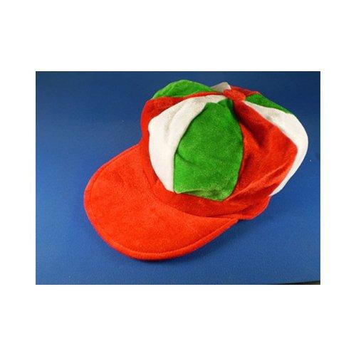 Rot Weiß& Grün Schiebermütze Neuheit Jockey Kostüm Hut Pferderennen