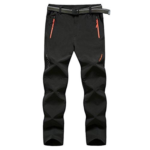 walk-leader da uomo Outdoor anti UV asciugatura rapida pantaloni traspirante Pantaloni da escursionismo, campeggio Black X-Large