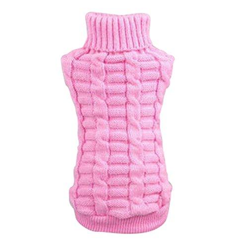 Silvercell Haustier Hund Katze Warme Pullover Kleidung Kleine Hundchen Mantel Teile Rosa XXS