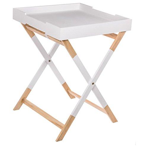 Mesa de café, sirve como bandeja - Estilo escandinavo - Color BLANCO