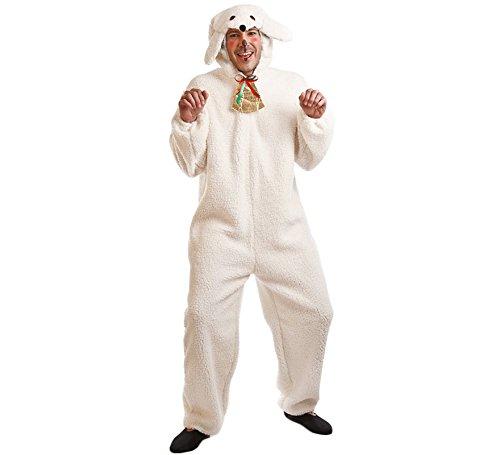 Imagen de disfraz para navidad de oveja blanca para adultos