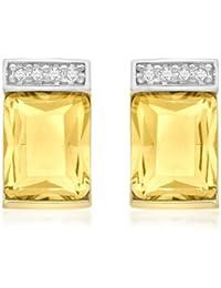 Carissima Gold Damen - Ohrringe 375 Rundschliff Citrin 1.57.8729