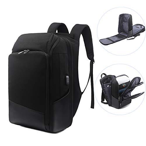 Xnuoyo 15.6 Pollici Zaino per PC, TSA Smart Scan Laptop Zaino Impermeabile all'Acqua di Grande capacità Zaino con Porta USB per Uomini Donne Viaggi Lavoro Scuola-Black