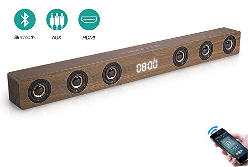Speaker-EJOYDUTY 30W Hallo-FI Stereo HDMI Sound Bar für TV, Holz- Bluetooth Heimkino-Lautsprecher für PC/Laptop/Handy/Tablets,A