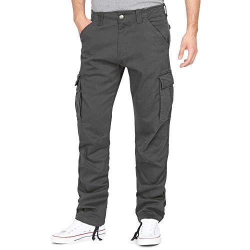 Finchman F1001E Herren Cargo Hose Lang Trousers Pant Dunkelgrau Gr 40