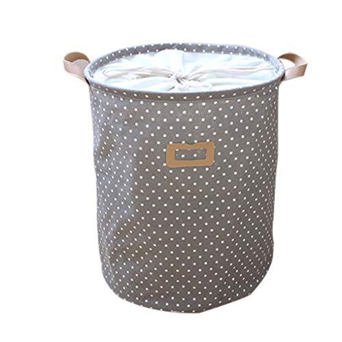 LEVEL GREAT Dot Wäschekorb-Beutel-Kleidung Storage Baskets Startseite Kleidung Barrel Kinder Spielzeug-Speicher-Wäsche-Container -