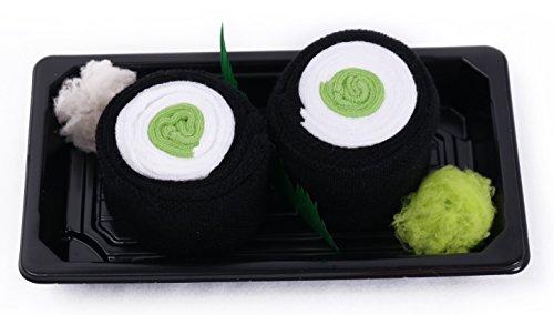 Calcetines del Sushi, 1 par de calcetines: Maki de Pepino, Traordinario Regalo, Fabricado en EU, ex Tallas EU 41-46, Más alta Calidad, Idea Original
