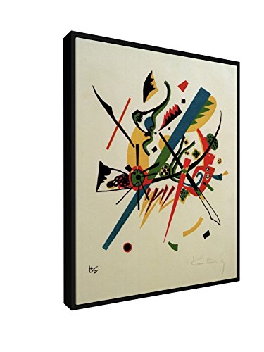 Wassily Kandinsky - Kleine Welten I - 20x25 cm - Leinwandbild mit Schattenfugenrahmen - Wand-Bild -...