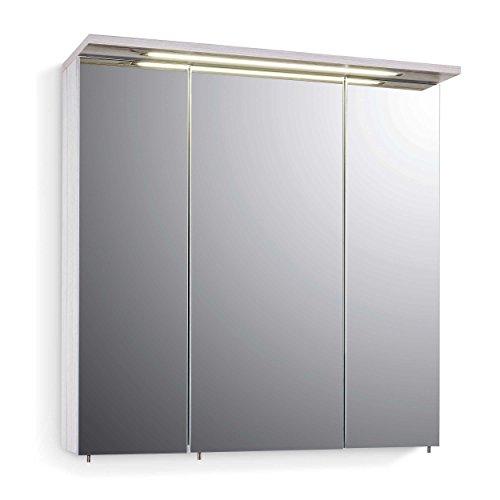 #Schildmeyer 127271 Spiegelschrank, 70,5 x 73 x 24 cm, kalkeiche#