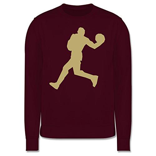 Basketball - Basketball - Herren Premium Pullover Burgundrot