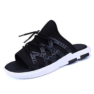 Slippers & amp da uomo;Luce Estate Suole denim casuale lace-up arcobaleno nero / bianco nero Walkin sandali US8 / EU40 / UK7 / CN41