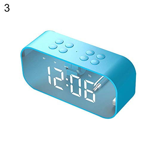 Sguan-wu Bluetooth 5.0 Wireless Lautsprecher Subwoofer Musik Wecker Laptop Phone Soundbox - Blau - Für Cd-player-wecker Mädchen