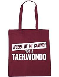 HippoWarehouse ¡FUERA DE MI CAMINO! VOY A TAEKWONDO Bolso de Playa Bolsa Compra Con Asas para gimnasio 42cm x 38cm 10 litros capacidad