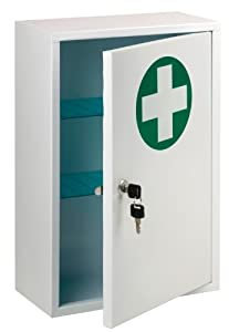 St John Ambulance Lockable First Aid Cabinet