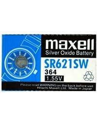 Pila maxell de Boton oxido Plata 364 SR621SW, Cablepealdo
