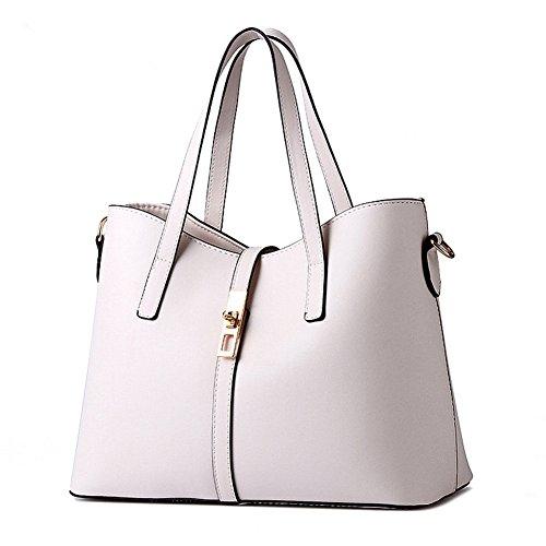 sfpong Mode Handtaschen Damen Leder Frauen Handtasche Schultertaschen Beutel Tote Hobo Umhängetaschen Tasche Weiß