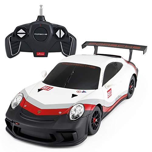 PETRLOY 1:18 funkfernbedienung Cars für Kinder Jungen und mädchen Wahl Produkte offiziell lizenzierte rc Exquisite langlebig Drift Rennwagen 60 km/h high Speed offizielle (weiß & schw - Elektro-mädchen Fahrt Spielzeug Auf