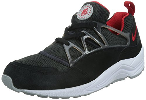 Nike Air Huarache Light, Chaussures de Running Entrainement Homme, Taille Noir / Rouge / Gris (Black / University Red-Wolf Grey)