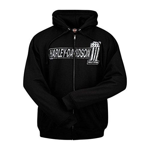 Hoodie Harley (Harley-Davidson® Herren Kapuzenpullover schwarz schwarz Gr. Large,)