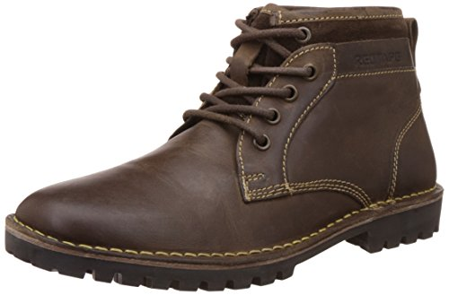 Redtape Men's RTS7752A Brown Leather Boot - 8 UK