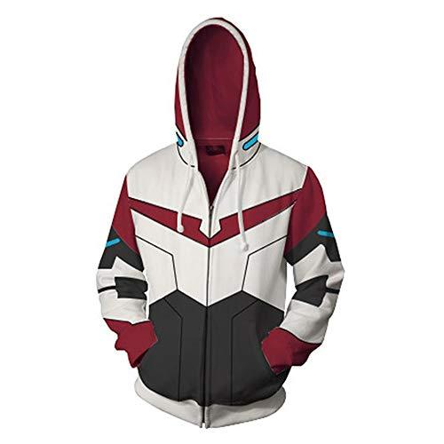 RJHWY 3D Hoodie Sweatshirt Unisex Pullover Kapuzenjacke Kleidung Mantel Reißverschluss Anime Top Voltron L