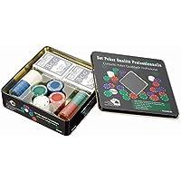FICH Juego Poker con 2 Sets de Carta 100 Piezas Chip de póquer de plástico