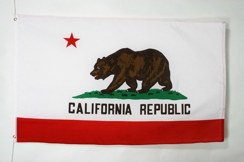 AZ FLAG Flagge KALIFORNIEN 180x120cm - KALIFORNISCHE Bundesstaat Fahne 120 x 180 cm - flaggen Top Qualität