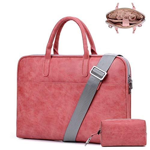 Targus Damen Tragetasche (Frauen Rosa Leder Laptop Taschen Designer Für Handtaschen wasserdichte Notebooktasche Männer Schwarz Umhängetasche Red Enhanced-W 14.1 Inch)