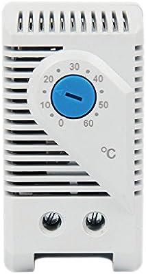 langir pequeño compacto ajustable termostato mecánico, 0–60grados conexión de controlador de temperatura de radiador para armario