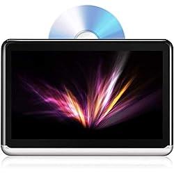 DDAUTO DDA10D Lecteur de DVD Portable 10.1 Pouces Bluetooth 4.0 Tablette Android 6.0 IPS Écran Tactile Moniteur Appui-tête DVD de Voiture avec Batterie 4000mAh Intégrée Supporte HDMI FM WiFi