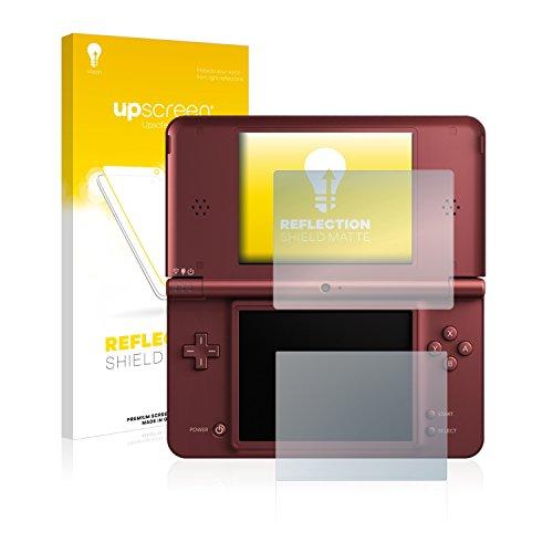 upscreen Entspiegelungs-Schutzfolie kompatibel mit Nintendo DSi XL - Anti-Reflex Displayschutz-Folie Matt