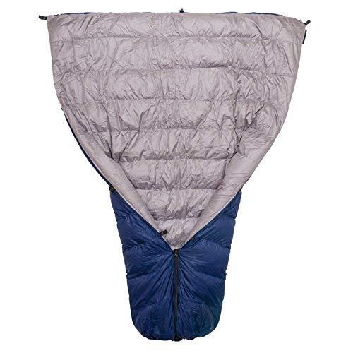 Paria Outdoor Products Thermodown 30° Daunenschlafdecke - Ultraleichte 3-Jahreszeiten-Steppdecke - perfekt für Backcountry Camping, Rucksackreisen und Hängematten, Navy, Regular