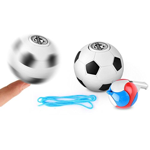 erthome Soccer Basketball Finger Hand Spinner Launch Stress Mini Ball Toy (A) Opinions