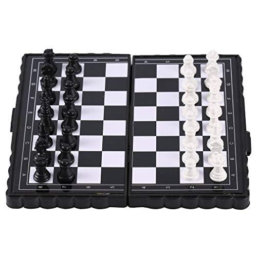 Leoboone portátil de Bolsillo magnético de ajedrez Plegable de plástico de ajedrez...