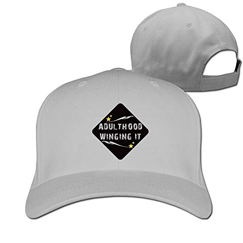 Rghkjlp Erwachsenenalter Winging It Unisex Classic Baseball Caps Baumwolle verstellbar Papa Hüte Multicolor73 -