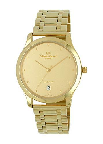 Claude Pascal Automatik Herren Armbanduhr 750 Gelbgold 18 Karat 38,5mm Durchmesser 494293 GP Punkt Indizies (Gold)