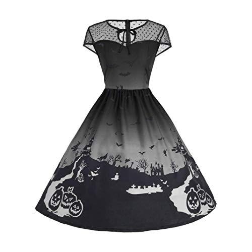 Kanpola Kleider Damen Mode Ärmellos Vintage Beiläufiges Retro -