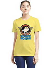 90bd90c2446 The Souled Store Wonder Woman  Princess Diana Girls Cotton Printed T-Shirt  for Women