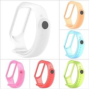 Silikon Gurt Uhr Band Ersatzarmband Viele Farben Halb Transparentes für Herren Damen für Xiaomi Mi Band 3 Smart Armband Miband 3 Strap